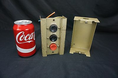 Vintage Switch Open/Close/Stop Door Control Push Button Garage TESTED