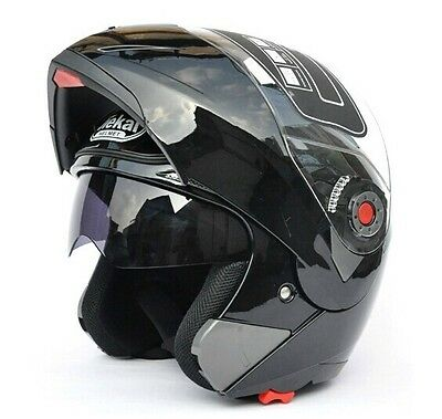 Motorcycle Helmet Full Open Face Dual Visor Modular Flip Up Sun Shield 4 Sizes