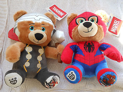 Build-A-Bear Bears Spiderman And Thor Brand New