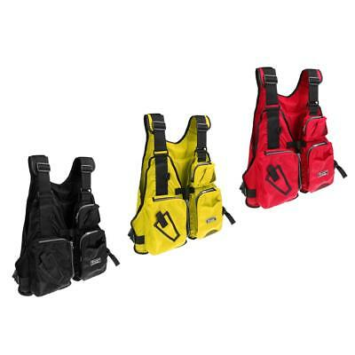 Utility Fly Fishing Vest Multi-pocket Waistcoat Backpack Chest Bag Fit All Size