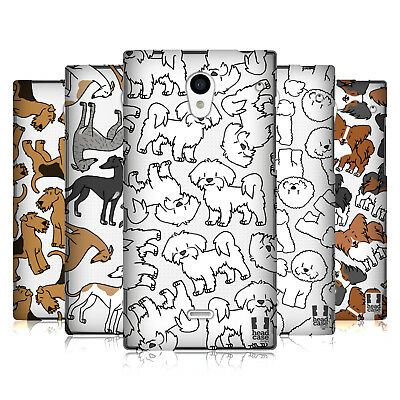 Head Case Designs Dog Breed Patterns 4 Hard Back Case For Sharp Phones