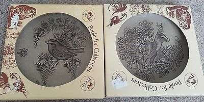 "2 x Poole Pottery Collectors 5"" Plate Stoneware Plaques"