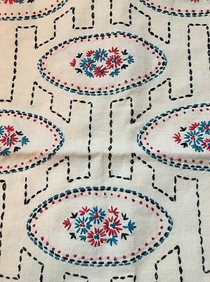 Vintage Toss Pillow Cover Sham Embroidered Flowers - Throw Pillow Case