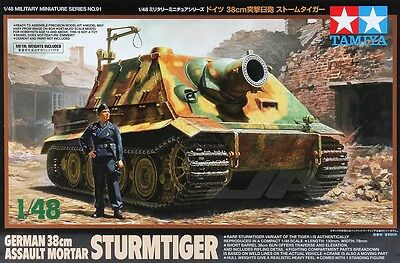 Tamiya 32591 1/48 Scale Model Kit WWII German Sturmtiger 38cm Assault Mortar Gun