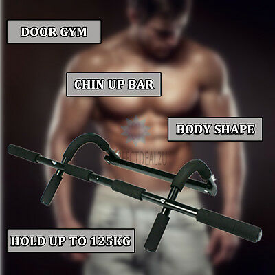 Door Gym Chin Up Bar Pull Up Doorway Home House Exercise Fitness Portable New AU