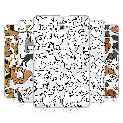 Head Case Designs Dog Breed Patterns 4 Hard Back Case For Samsung Tablets 1