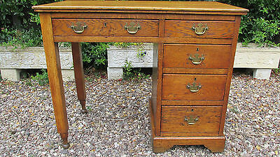Antique Golden oak desk,single pedestal