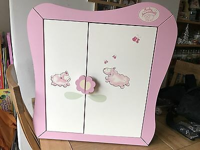 Baby Annabell Wooden Wardrobe Cupboard With Hangers