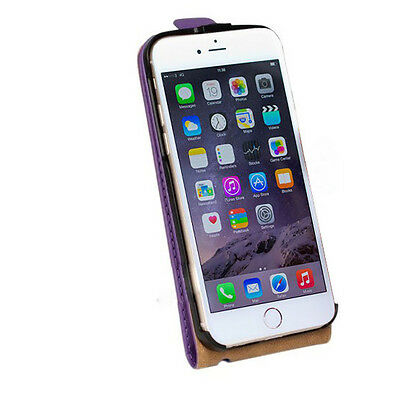 New Stylist Gray PU leather Phone Flip Case Cover For Iphone 6SPlus [d7