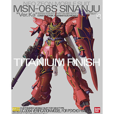 "Bandai MG 620514 1/100GUNDAM MSN-06S Sinanju ""Ver.Ka"" Titanium Finish from Japan"