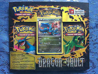 POKEMON 3 Pack Blister Set Druddigon - Dragon Vault Cards TCG Rare Item