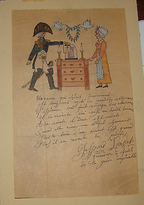 Letter of the officer with the picture