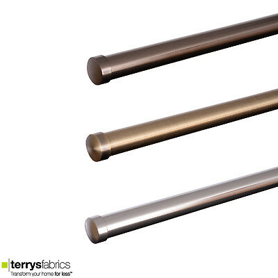 Speedy End Cap 28mm Complete Metal Curtain Eyelet Pole & Finial