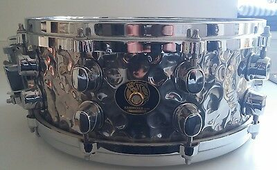 "Mapex Black Panther Hammered Steel 14"" Snare Drum"