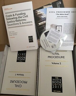 The White Book Service 2017 Civil Procedure - Vol 1 & 2 WITH CD Brand New