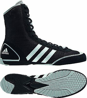 Adidas Box Rival II Boxing Boots Trainers | Black/White/Grey | UK 6.5 | G62604