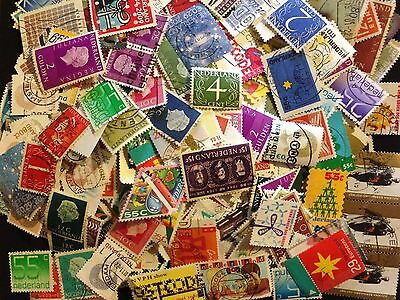 Lot Of 1000 Old Netherlands Stamps Off Paper In Very Nice Condition
