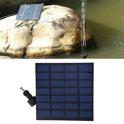 Solar Power Fountain Garden Pond Pool Submersible Water Pump Feature Kit Panels