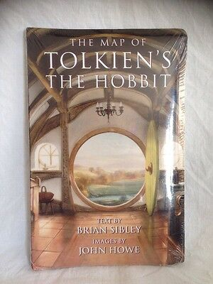 The Map of Tolkien's The Hobbit, Art by John Howe, Brian Sibley 1995 Sealed New