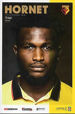 Watford v Liverpool 1st May 2017 Premier League Programme