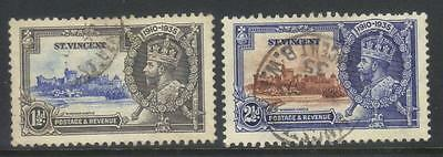 St Vincent 1935 Silver Jubilee Sg142-144 Used Cat £10+