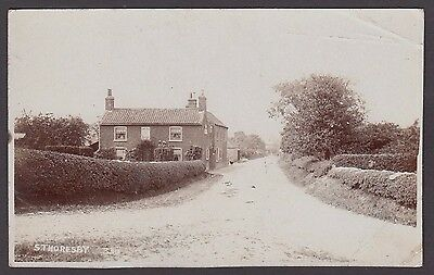 Postcard South Thoresby near Alford Lincolnshire early RP by Peakome of Boston