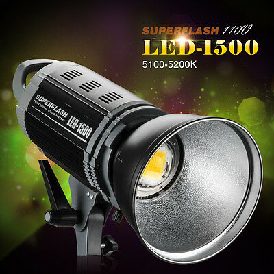 Pergear Pro LED-1500 High CRI Studio LED Video light Bowens Mount +Reflector New
