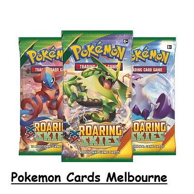 6x Roaring Skies Booster Packs Pokemon Trading Card Game 10 Addtional Cards New