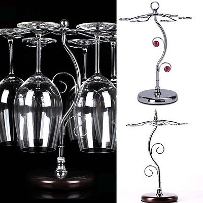 Stainless Steel Wine Glass S Cup Holder Shelf Stand Carrier Kitchen Bar Supply