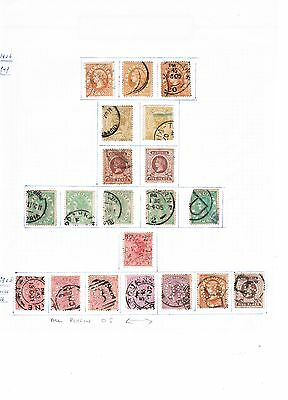 Australia Victoria State selection on stamps on album page