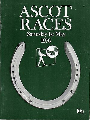 ASCOT RACE CARD 1st MAY 1976