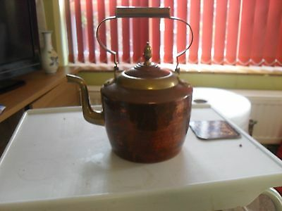 Copper And Brass Kettle Victorian