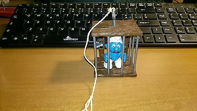 Puffo  In Gabbia Caged Prisoner Cage Complete Completo   Smurfs  Vintage