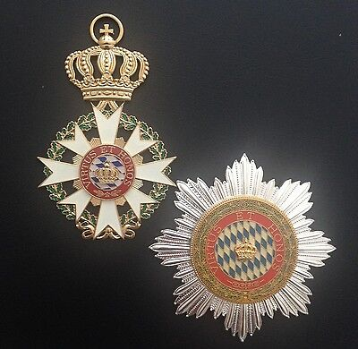 Museum Quality German Grand Cross Bavarian Order Of The Crown 1808
