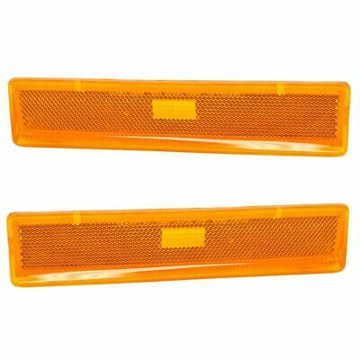 Parking Marker Lamp Light Amber LH RH Pair Fender Mounted for Ford Truck Bronco