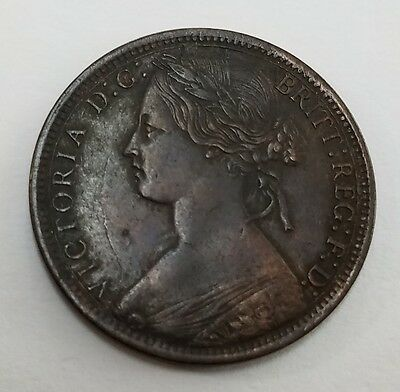 NICE GRADE - 1872 Great Britain Large Penny