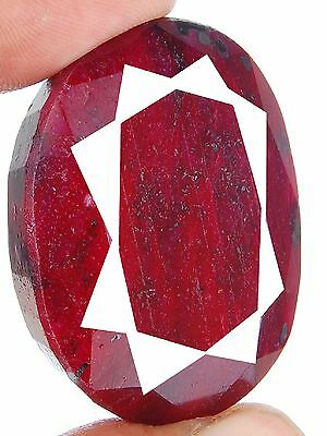 225 Cts Rare Huge Gorgeous Red Natural African Ruby Pendant Size Oval Gemstone
