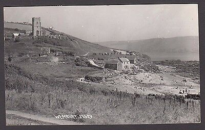 Postcard Wembury near Plymouth Devon church etc posted 1959 RP by Chapman 25529