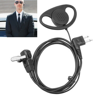 2-Pin D Shape Police Earpiece Headset for Motorola Radio cls1110 cls1410 cls1413