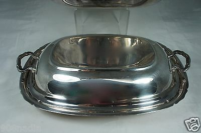 Vintage Silver Plated Oval Dish/bowl/casserole W/ Lid,reed/barton Mayflower