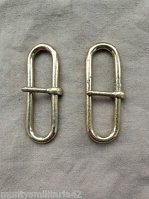 Excellent British Army Buff Leather Brass Belt Hook-Sliders