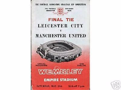 1963  FA Cup Final-------Leicester v Manchester United