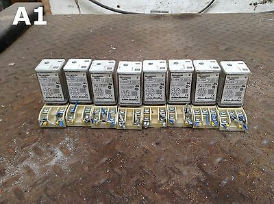 Allen-Bradley 700-HA33Z4 Series B Ice Cube Relay and Socket 24VDC -lot of 8