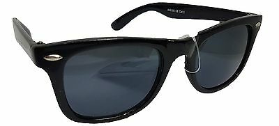New Unisex Mens Ladies Black Wayfarer Black Arms Sunglasses Shades UV400 Lenses