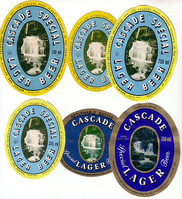 Aust. Tasmania.  Cascade Special Lager Beer.  6 Mint Oldies.
