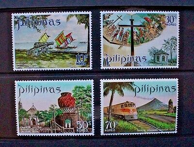 PHILIPPINES 1971 Tourism (4th Series). Set of 4. Mint Never Hinged. SG1196/1199