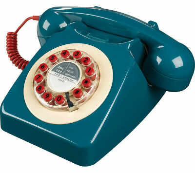 WILD & WOLF 746 Corded Phone - Petrol Blue with Mechanical bell ringer
