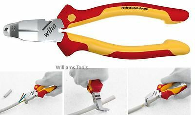 Wiha TriCut Side Cuttter Wire Cable Stripper VDE 1000v Plier