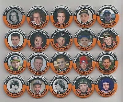 WOLVERHAMPTON WOLVES SPEEDWAY EX-RIDERS BADGES  X 20  38mm  IN SIZE