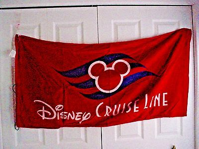 Disney Cruise line DCL Beach towel back pack LOGO Brand new with tag Captain Mic
